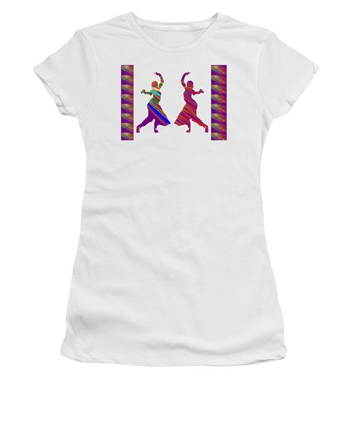 Women's T-Shirt (Junior Cut) featuring the photograph Folk Dance Sparkle Graphic Decorations by Navin Joshi
