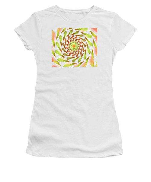 Women's T-Shirt (Junior Cut) featuring the digital art Abstract Swirls  by Ester  Rogers