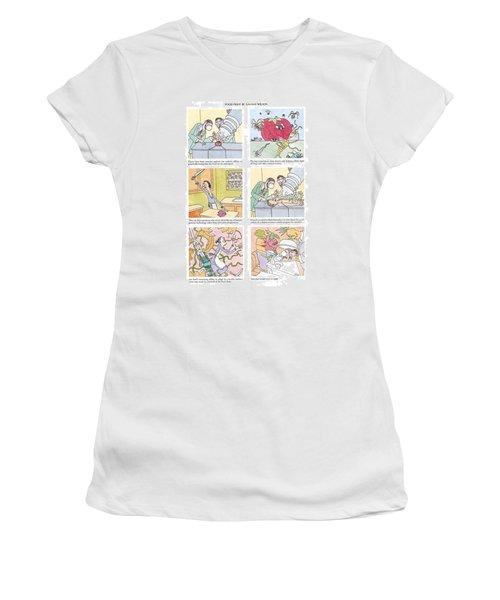 'food Fight' Women's T-Shirt