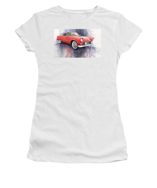 Ford Thunderbird 1955 Red Women's T-Shirt