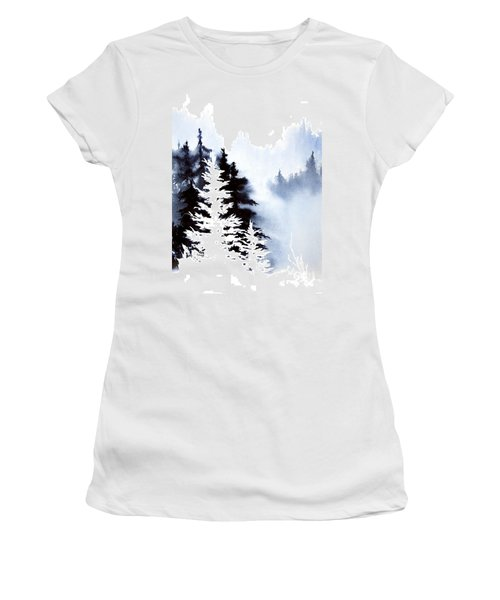 Forest Indigo Women's T-Shirt (Junior Cut) by Teresa Ascone