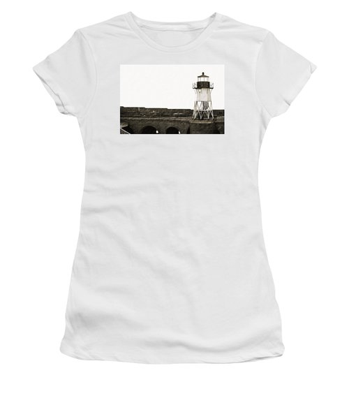 Fort Point Lighthouse Women's T-Shirt (Athletic Fit)