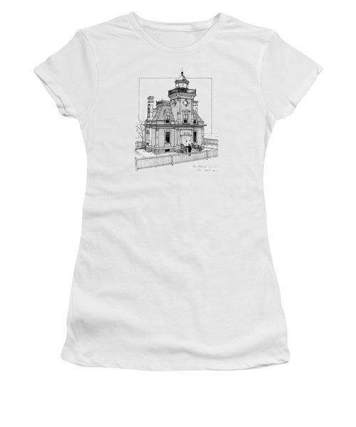 Fort Tompkins Lighthouse Women's T-Shirt (Junior Cut) by Ira Shander
