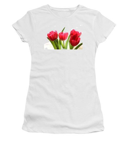 Four Tulips Women's T-Shirt (Athletic Fit)