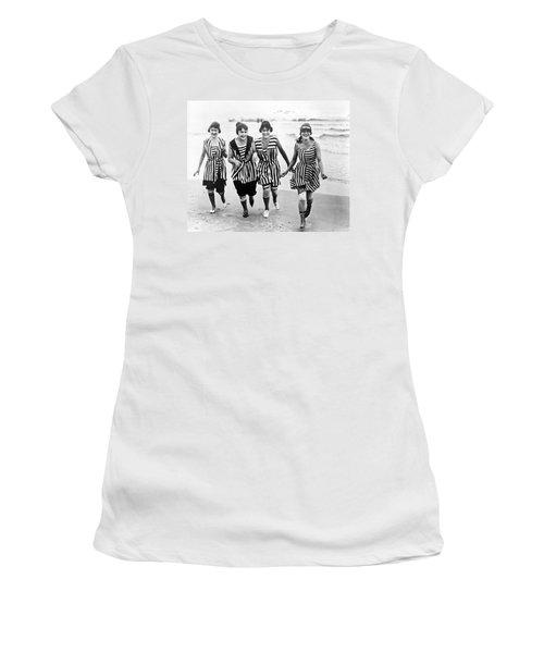 Four Women In 1910 Beach Wear Women's T-Shirt