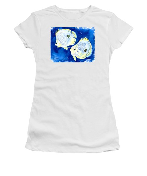 Foureye Butterflyfish Women's T-Shirt (Athletic Fit)