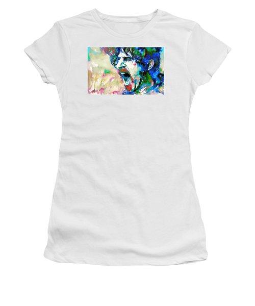 Frank Zappa  Portrait.4 Women's T-Shirt (Athletic Fit)