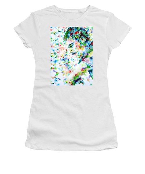 Freddie Mercury Portrait.7 Women's T-Shirt (Athletic Fit)