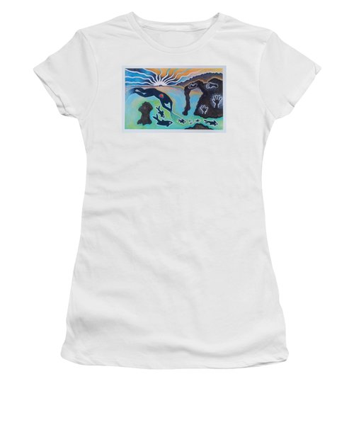 Free Man Off Of Pirates Cove Women's T-Shirt (Athletic Fit)