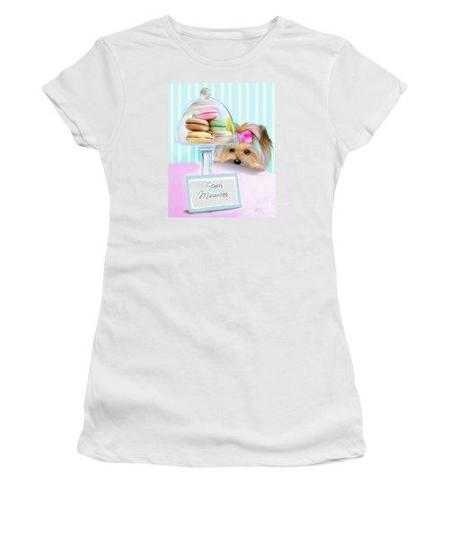 French Macarons Women's T-Shirt (Junior Cut) by Catia Cho