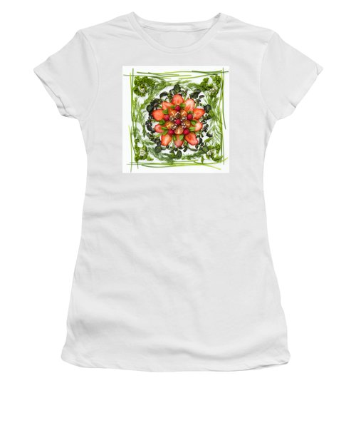 Fresh Fruit Salad Women's T-Shirt (Junior Cut) by Anne Gilbert
