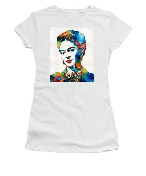 Frida Kahlo Art - Viva La Frida - By Sharon Cummings Women's T-Shirt