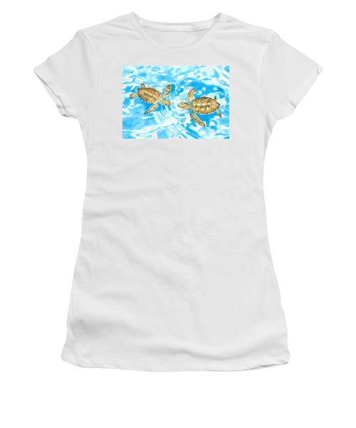 Friends Baby Sea Turtles Women's T-Shirt (Athletic Fit)