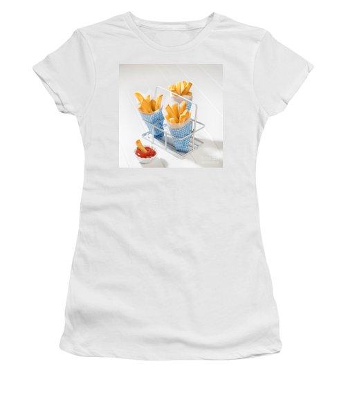 Fries Women's T-Shirt (Junior Cut) by Amanda Elwell