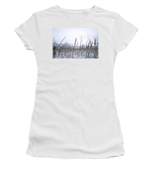 Frosty Cattails Women's T-Shirt