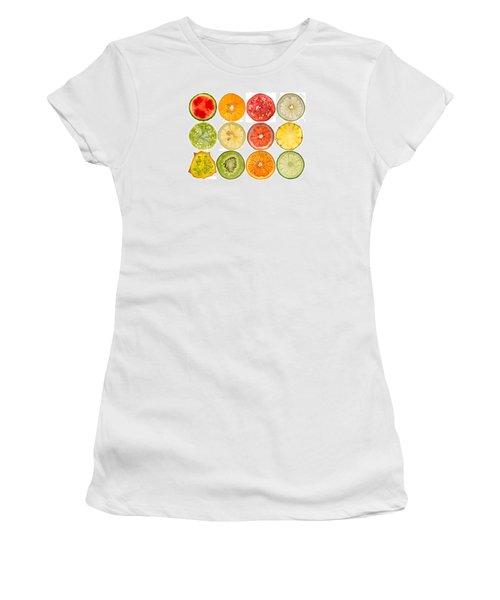 Fruit Market Women's T-Shirt (Junior Cut) by Steve Gadomski