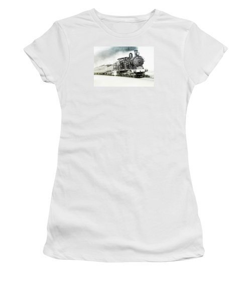 Women's T-Shirt (Junior Cut) featuring the photograph Full Steam Ahead by Kevin Chippindall