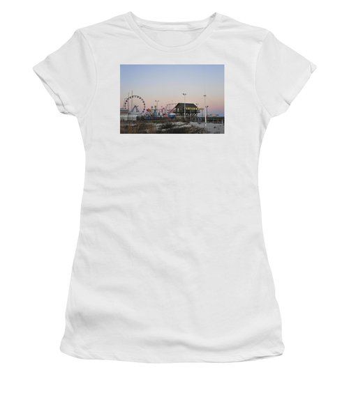 Fun At The Shore Seaside Park New Jersey Women's T-Shirt (Athletic Fit)