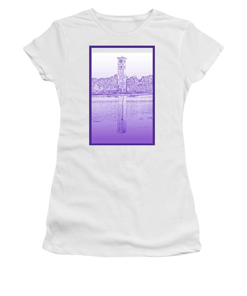 Furman Bell Tower Women's T-Shirt (Athletic Fit)