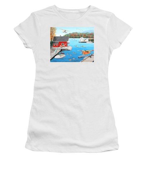 Galloping Goose Lake Women's T-Shirt (Athletic Fit)