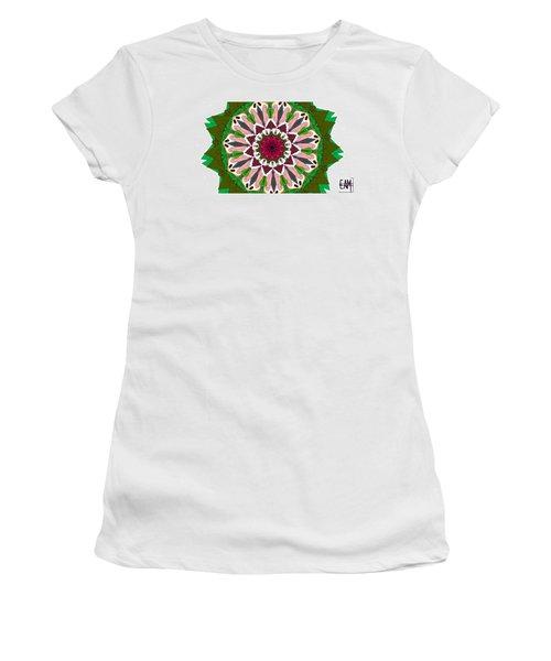 Women's T-Shirt (Junior Cut) featuring the digital art Garden Party by Elizabeth McTaggart