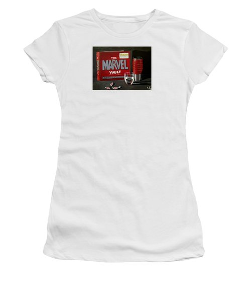 Geek Obsession - Still Life Acrylic Painting - Marvel Comics - Ai P. Nilson Women's T-Shirt (Athletic Fit)