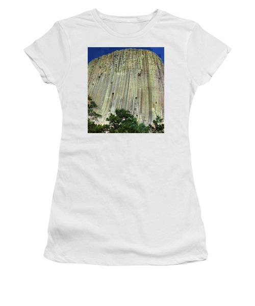 Geology Triptych - Two Women's T-Shirt (Athletic Fit)