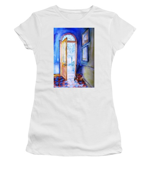 Winter Doorway Ireland    Women's T-Shirt (Junior Cut) by Trudi Doyle