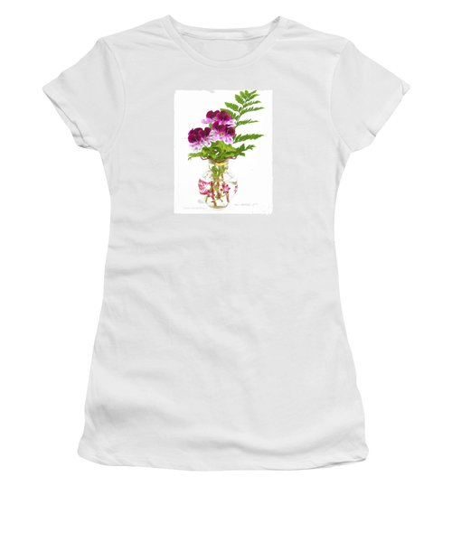 Geranium 'witchwood' Women's T-Shirt (Athletic Fit)