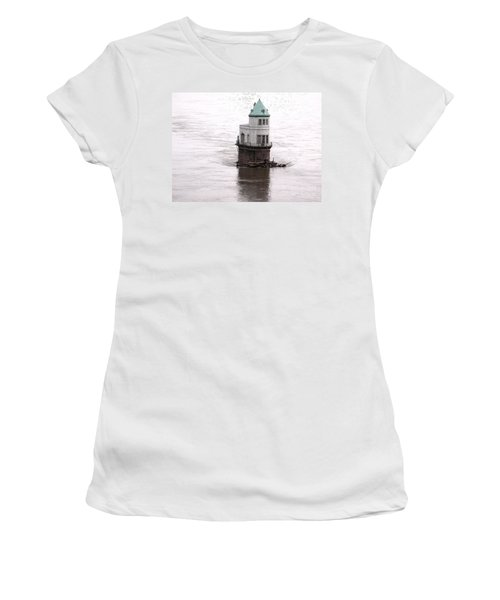 Women's T-Shirt (Junior Cut) featuring the photograph Ghost In The Window by Kelly Awad