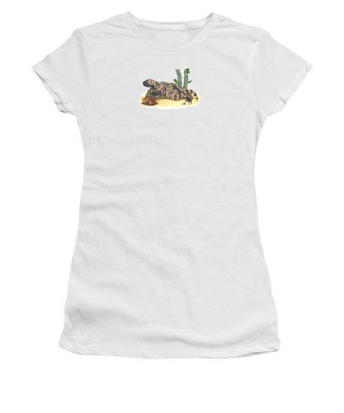 Gila Monster Women's T-Shirt (Junior Cut) by Cindy Hitchcock