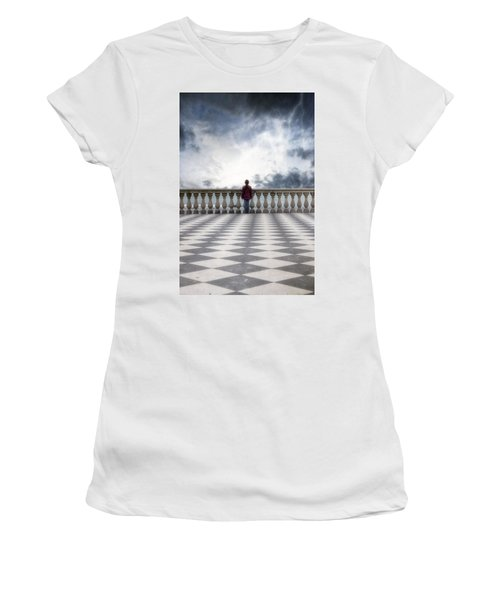 Girl On A Terrace Women's T-Shirt