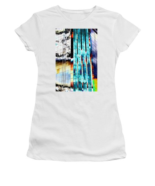 Women's T-Shirt (Junior Cut) featuring the photograph Glass House by Christiane Hellner-OBrien