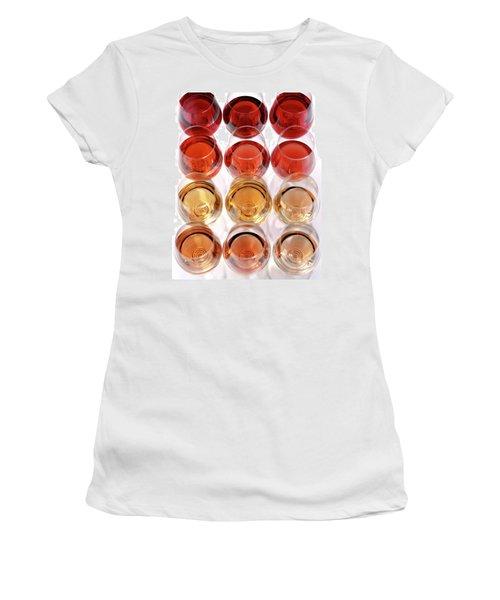Glasses Of Rose Wine Women's T-Shirt