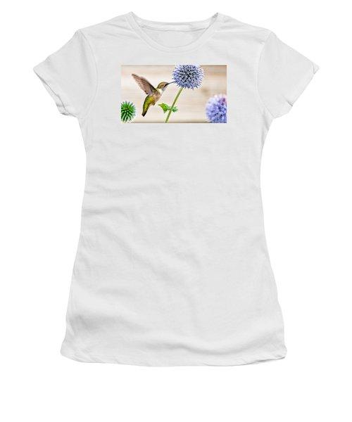 Globe Thistle Hummer Women's T-Shirt