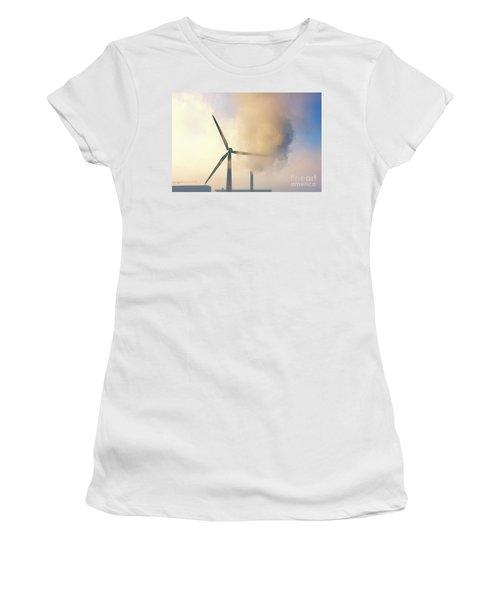 Gloomy Industrial View. Women's T-Shirt