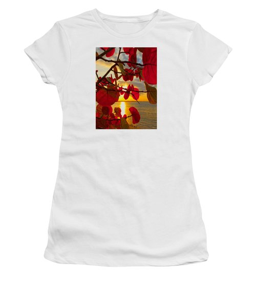 Glowing Red Women's T-Shirt (Athletic Fit)