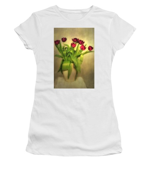 Glowing Tulips Women's T-Shirt