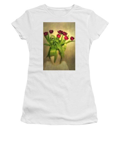 Glowing Tulips Women's T-Shirt