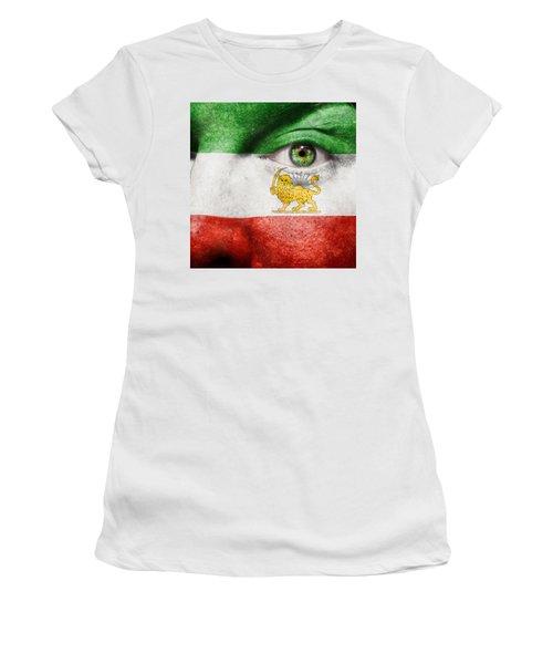 Go Iran Lion Sun Women's T-Shirt