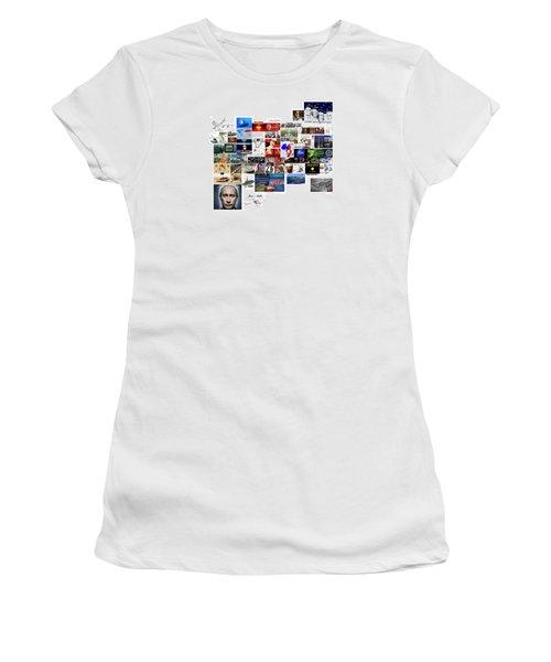 Goal Post Putin Women's T-Shirt (Junior Cut) by Peter Hedding