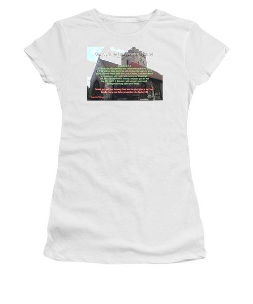 Gods Curse On False Preachers Declared Women's T-Shirt (Athletic Fit)