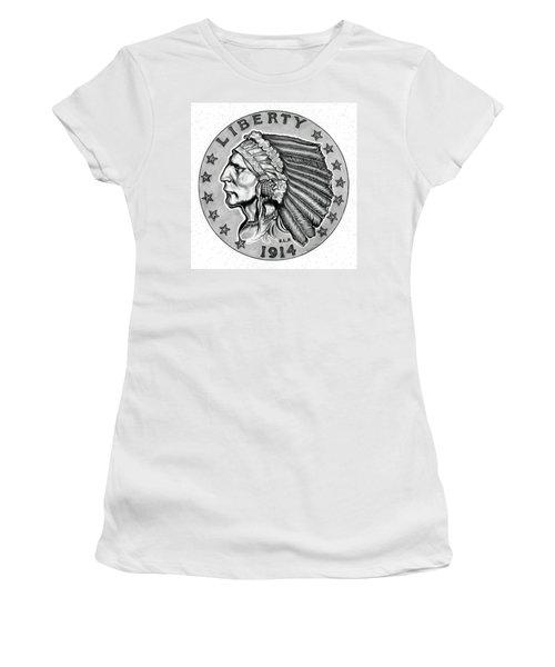 Gold Quarter Eagle Women's T-Shirt