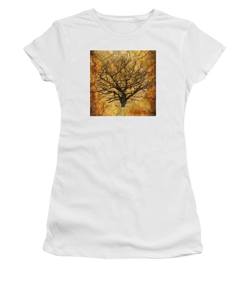 Golden Autumnal Trees Women's T-Shirt (Athletic Fit)