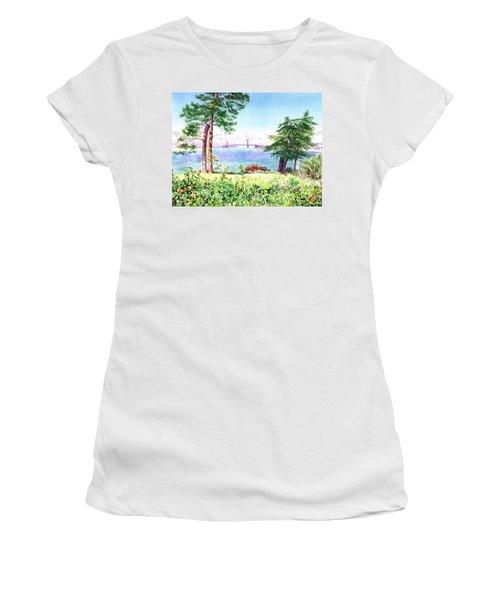 Golden Gate Bridge View From Lincoln Park San Francisco Women's T-Shirt