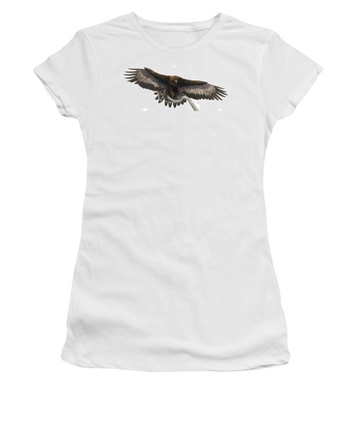 Women's T-Shirt (Junior Cut) featuring the painting Golden Landing by Pat Erickson
