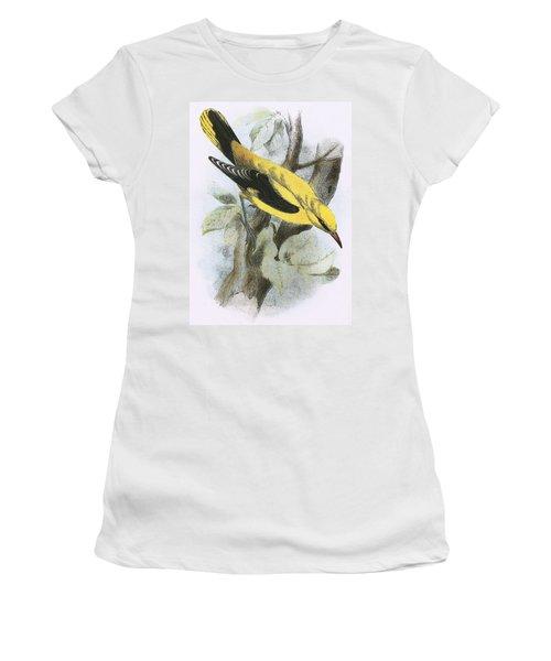 Golden Oriole Women's T-Shirt (Junior Cut) by English School