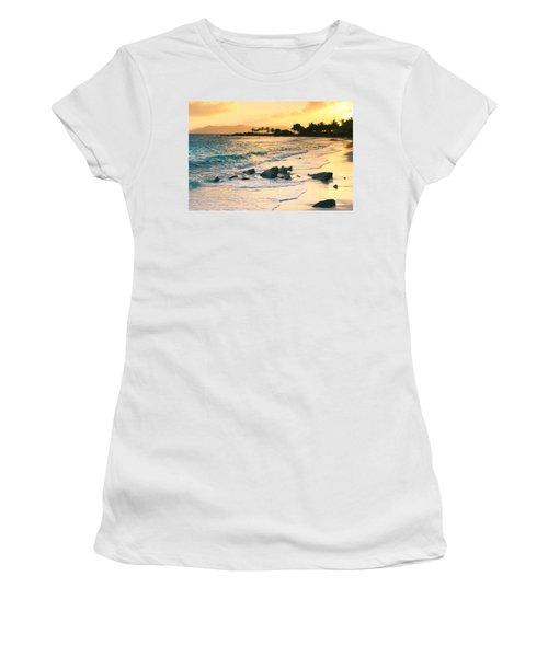 Golden Sunrise On Sapphire Beach Women's T-Shirt (Athletic Fit)
