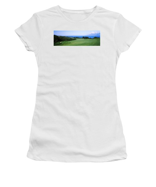 Golf Course At The Oceanside, Kapalua Women's T-Shirt (Athletic Fit)