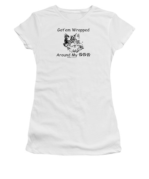 Got'em Wrapped Around My Paw Women's T-Shirt (Athletic Fit)